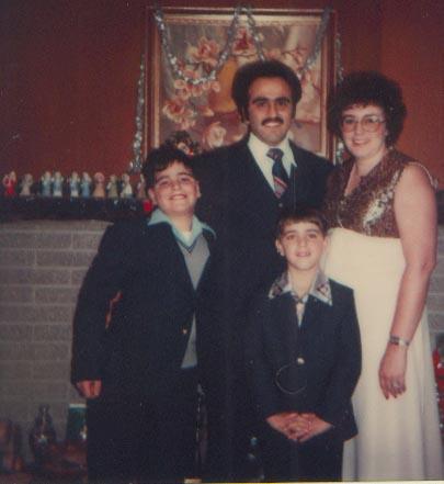 Mom Dad Keith and Chris 1980