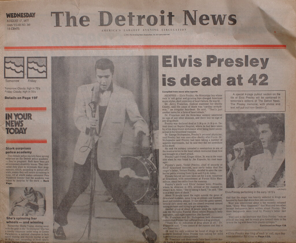 elvis headline