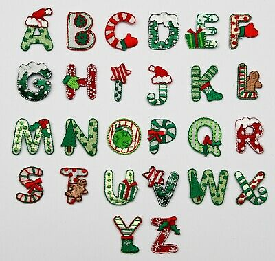 Christmas-Alphabet-Letters-Embroidered-Motif-Fabric-Iron-On