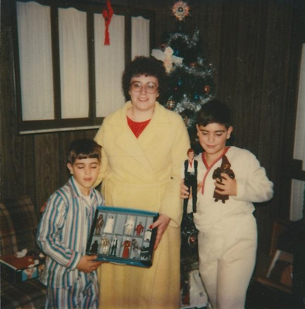 Mom, Chris, & Keith Xmas 79